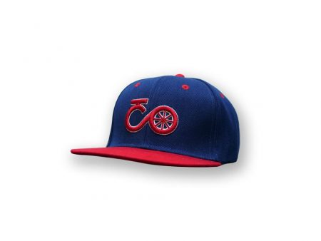 Snap back blue red cap
